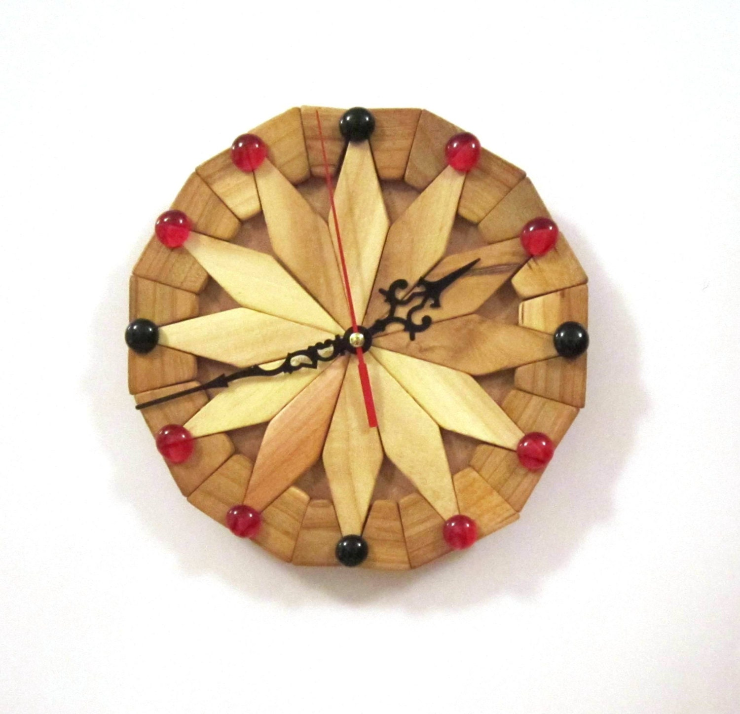 Wall clock unique wall clocks wooden clock kitchen by