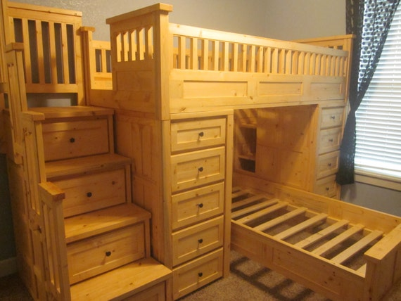 Adult Twin Beds Twin Mattress For Adults Amazing Custom: Items Similar To Large Twin Over Twin Loft Bed With Tons