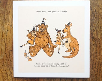 Would You Rather Greeting Card - Party