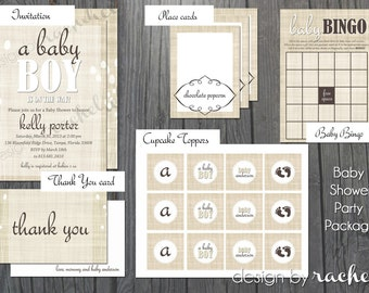Baby Shower Party Package - Neutral