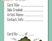 ATC Artist Trading Card Labels