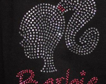 Rhinestone Barbie Shirt