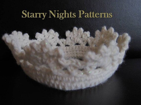 Crochet Baby Crown Headband Pattern : Crochet Prince and Princess Crown ii Baby by ...