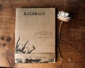 Photo notebook libertad, eco friendly handmade pocket journal , recycled paper vegan
