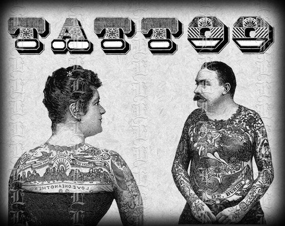 Victorian Man Tattoo Victorian Tattooed Cou...