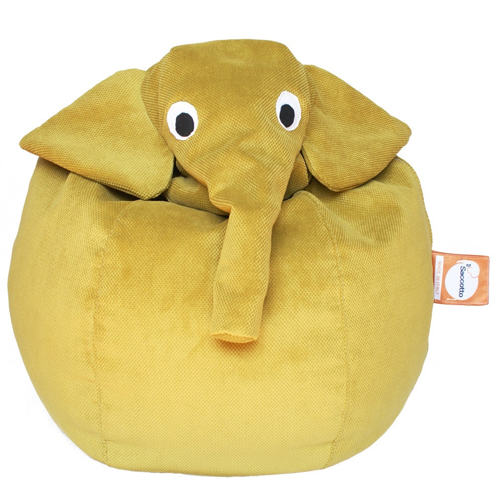 yellow elephant bean bag. Black Bedroom Furniture Sets. Home Design Ideas