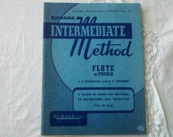 1939 Rubank Intermediate Method Flute or Piccolo Like Class Instruction Book