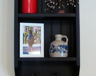 Beadboard Wooden Wall Shelf