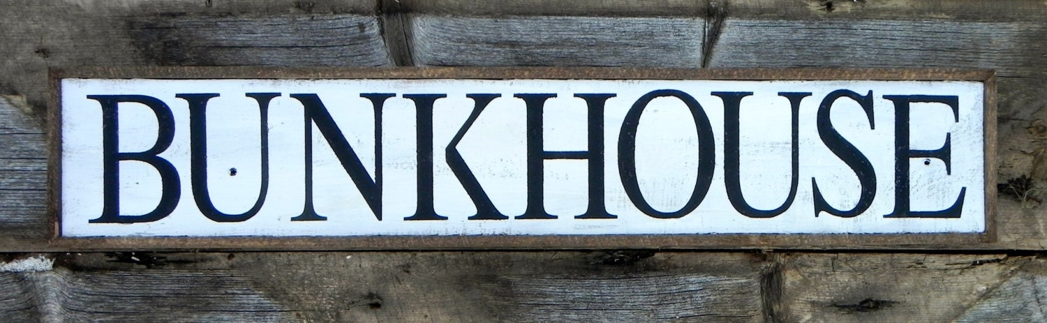 zoomBunkhouse Sign Western Home Decor Wild West Sign Rustic. Wild West Home Decor. Home Design Ideas