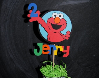 Elmo Cake Topper  With Child's Name And Age