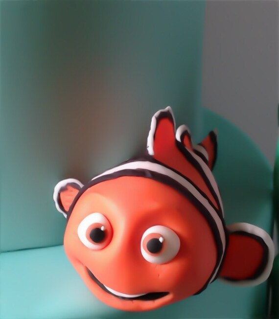 Items Similar To Fondant Clown Fish Cake Or Cupcake Topper
