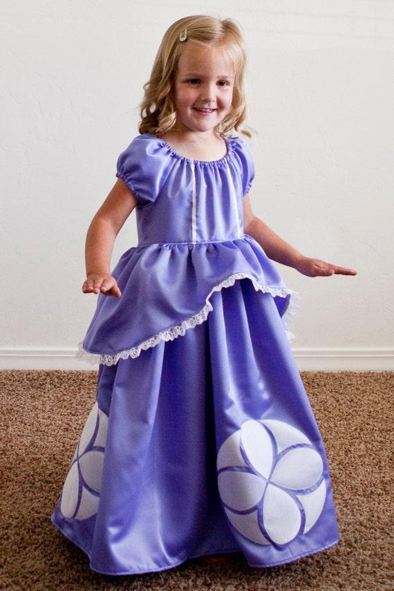 Sofia The First Princess Dress By Princessandapea On Etsy Princess Costume From Sofia The Printable