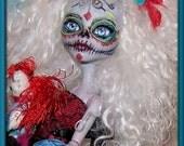 Monster High Repaint-redress complete do-over. Dia de los Meurtos.  Sugar Skull doll.