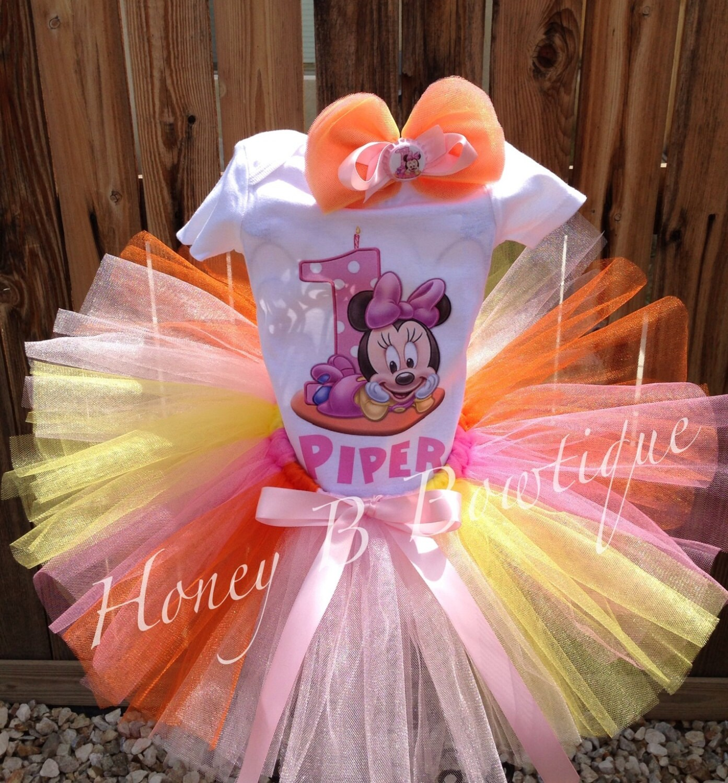 Minnie Mouse 1st Birthday Centerpieces Baby Minnie 1st Birthday Tutu