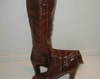 Vintage leather boots, Franco Fortini, (7 1/2 M)