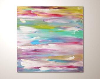 Original modern art painting playing colors for Moderne acrylbilder wanddekorationen