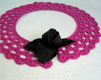 Lace collar necklace, Lace collar dress, Womens lace, Crochet lace collar,  Accessories, Scarves Wraps, Collars Bibs Collars, Handmade
