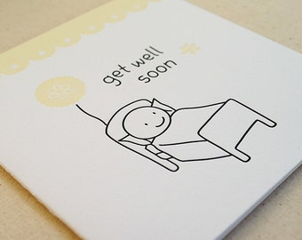 Get Well Soon / Letterpress Card