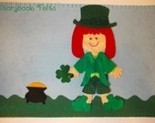 Storybook Felts Felt My Little Leprechaun Boy Or Girl Storyboard Play Set 11 PCS Paper Doll St. Patrick's Day