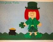 Storybook Felts Felt My Little Leprechaun Boy Or Girl Storyboard Play Set 11 PCS Paper Doll St. Patrick's Day