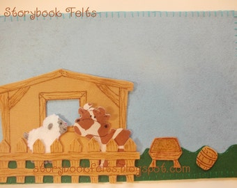 SHOP CLOSING SALE - Felt My Little Farm Felt Play Set
