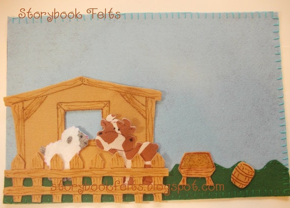 Storybook Felts Felt Storyboard My LIttle Farm Play Set 7 pcs