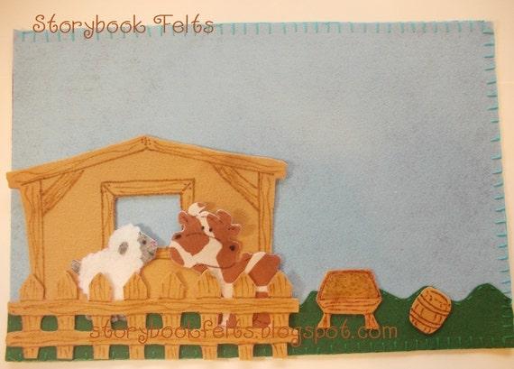 Storybook Felts Felt Storyboard My LIttle Farm Play Set 7 pcs