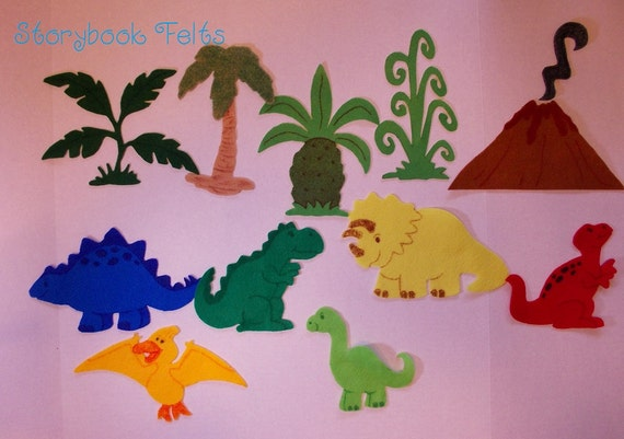 Storybook Felts Felt My LIttle Dinosaur  Play Set 12 pcs