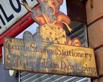 old glasgow shop front 10x8