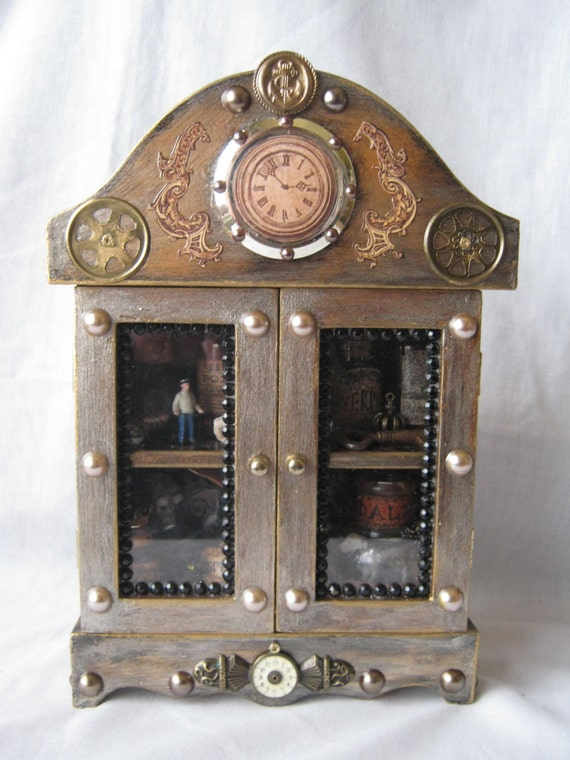 Items Similar To Sale Fabulous Steampunk Cabinet Of