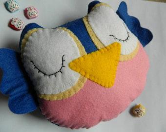 Cute Big Owl Felt Home Decoration / Toy