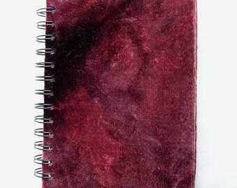 Red Velvet Fabric Notebook