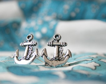 Anchor Studs, Anchor Earrings, Silver Anchor Studs, Anchors Away Adorable Hello Sailor Nautical Stud Earrings, Anchor Earrings