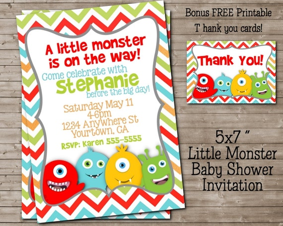 Monster Baby Shower Invitations is one of our best ideas you might choose for invitation design