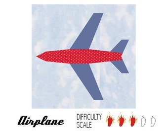 Airplane paper pieced quilt pattern in PDF