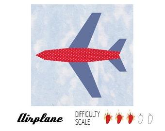 Airplane paper pieced quilt pattern in PDF