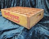 Antique Dr. Pepper 24 Hole Wood Soda Crate circa 1920's-1949
