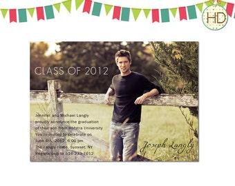 Graduation Invitation, Photo Graduation Invitation, Graduation Party Invite, Graduation Announcement