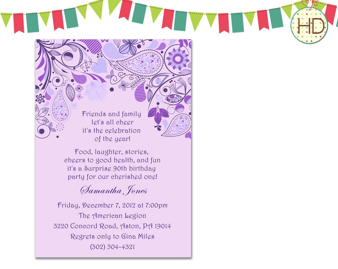 Wording For 80Th Birthday Invitation as great invitations template