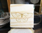 Butterfly, Wooden Mounted Rubber Stamping Block DIY for Showers, Invitations, Greeting Cards, and Scrapbooking - B00070