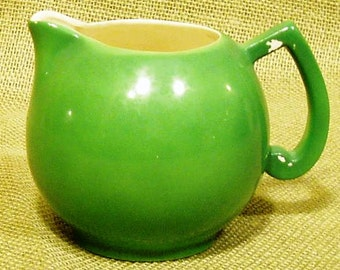 Chubby Little Vintage Green Creamer Pitcher