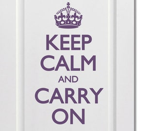 "Keep calm and carry on decal/ Keep Calm sticker 14""x24"""