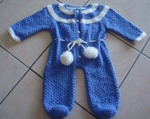 Knitted Baby Snowsuit