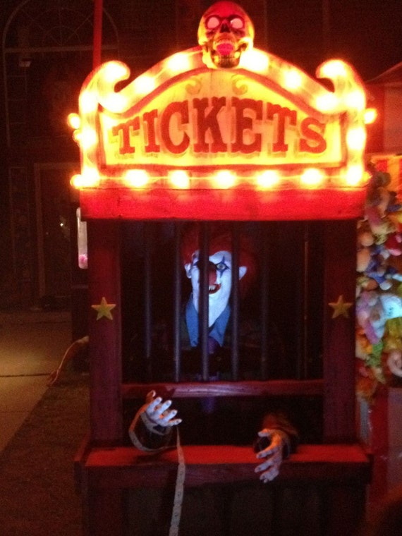 Haunted House Carnival Ticket Booth Halloween Decoration Prop