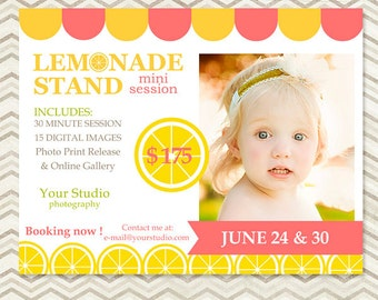 Mini Session - Photography Marketing Template - Lemonade Stand Mini Session - Summer Mini Session 016 - C049, INSTANT DOWNLOAD