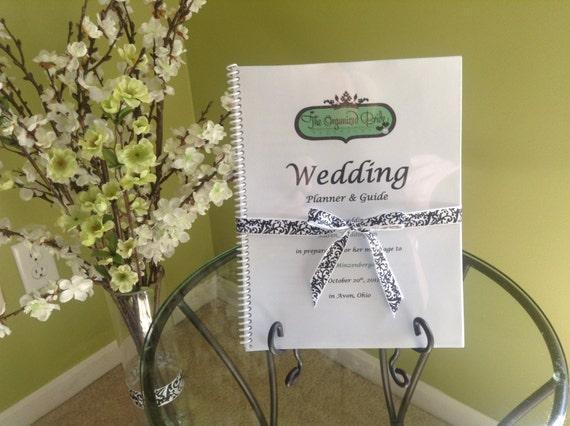 Items similar to Customized Wedding Planner & Guide Book - Personalized with Bride and Grooms ...