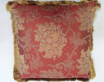 Unique Oriental influenced decorator pillow