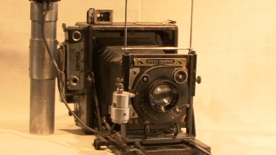"Graflex Speed Graphic Black Wartime Model (4x5"") Anniversary Edition w/Kodak Anastigmat F-4.5 51/2"" Lens"