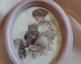 GIBSON GIRL PICTURE Oval Frame
