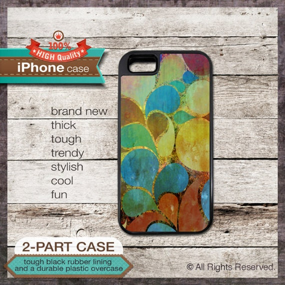 Shapes on wood paint design - iPhone 6, 6+, 5 5S, 5C, 4 4S, Samsung Galaxy S3, S4 - Cover 113